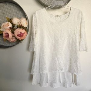 Cotton and Lace Nursing and Maternity Top